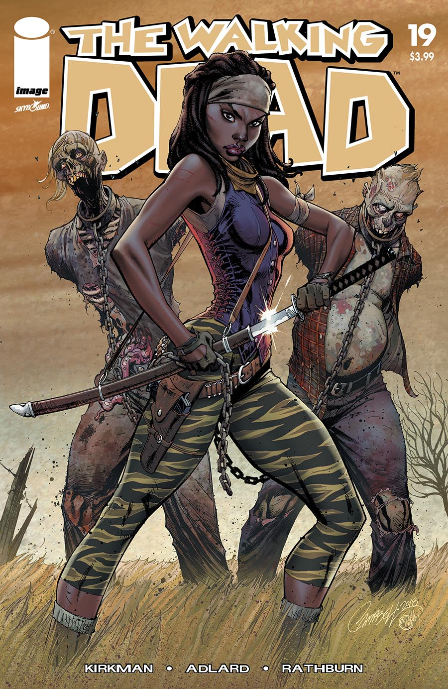 Artist: J Scott Campbell First Appearance of Michonne