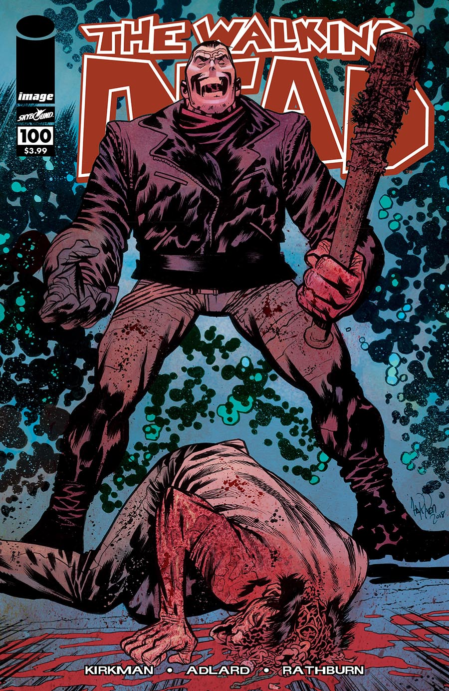 Artist: James Harren Major milestone issue and first appearance of Negan